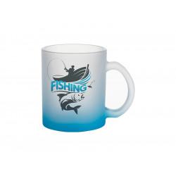 Cană de sticlă mată Albastră