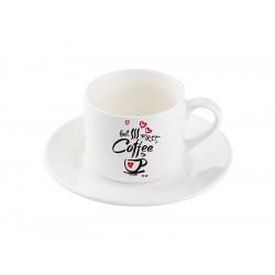 Cana de cafea cu farfurioara